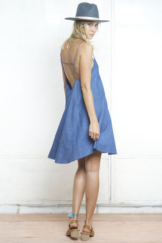 shakuhachi - GENIE SCALLOP CAMI DRESS DENIM - 2