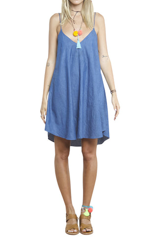 shakuhachi - GENIE SCALLOP CAMI DRESS DENIM - 4
