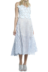 shakuhachi - WALK IN THE PARK FLARE SUN DRESS LIGHT BLUE - 3