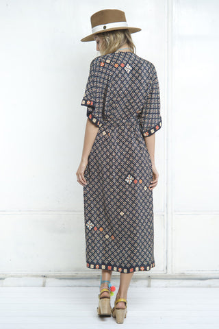 BATIK WRAP BELT DRESS