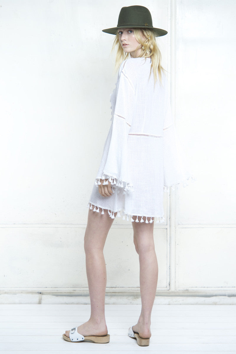 shakuhachi - SUNDANCE LADDERING KAFTAN DRESS - 3