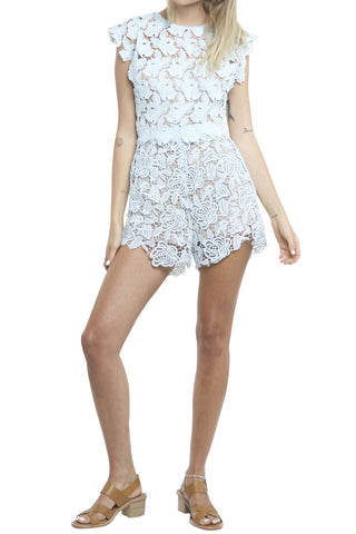 HOLEY BACK LACEY PLAYSUIT - Shakuhachi - 6
