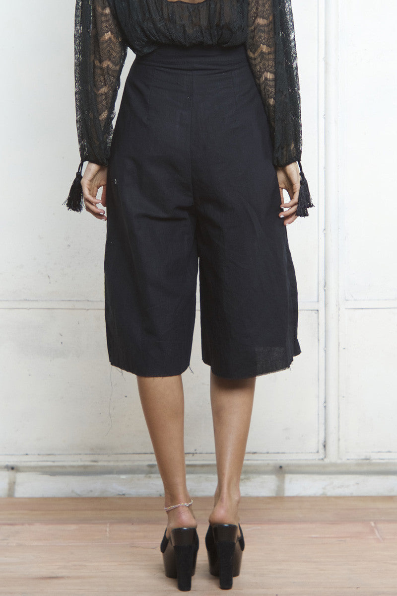 shakuhachi - CRUISE CULLOTE PANTS BLACK - 5