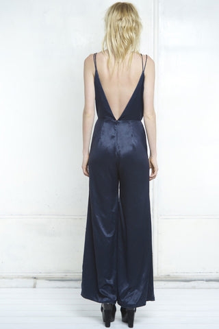 shakuhachi - PFEIFFER WIDE LEG CROSS BACK JUMPSUIT  TEAL - 3
