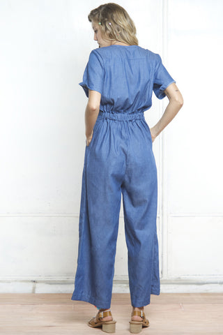 GENIE SAFARI JUMPSUIT DENIM - Shakuhachi - 4