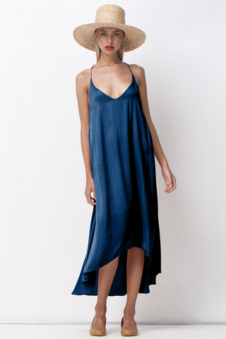 PFEIFFER FLARE CAMI DRESS NAVY - Shakuhachi