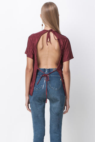 CHERRY BOMB TIE BACK TOP - RED