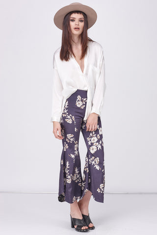 MOODY FLOWER FLARE PANT