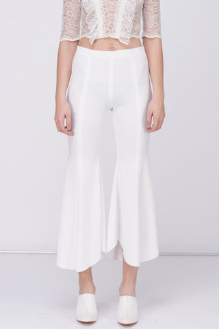 JERSEY BELL BOTTOM - WHITE