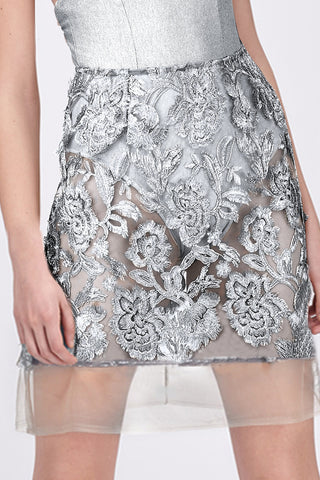 SILVER LEAF MINI SKIRT