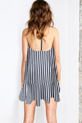 STRIPE T-BAR DRESS