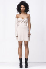 RAIN ON MY PARADE MINI DRESS - NUDE