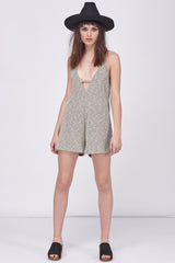 FRENCH TERRY MELANGE ROMPER