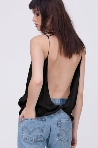 TWIST BACK CAMI - BLACK