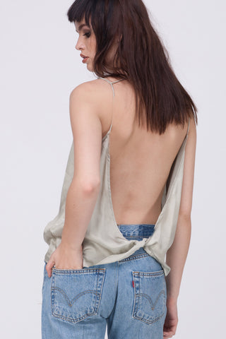 TWIST BACK CAMI - STONE