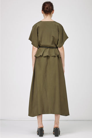 ISABELLA WRAP DRESS - KHAKI - Shakuhachi