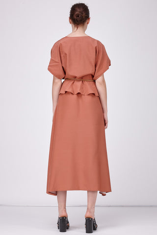 ISABELLE WRAP DRESS - TERRACOTTA