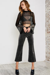 PLEATS PLEASE SILVER PANTS - BLACK SILVER - Shakuhachi