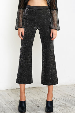 PLEATS PLEASE SILVER PANTS - BLACK SILVER