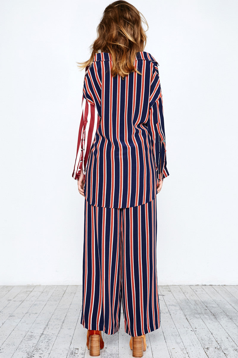 STRIPE MASH PYJAMA PANTS - MULTI STRIPES