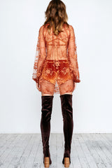LINDA LOVELACE MINI DRESS - ORANGE - Shakuhachi