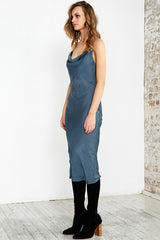 CHAIN GANG CAMI DRESS - TEAL