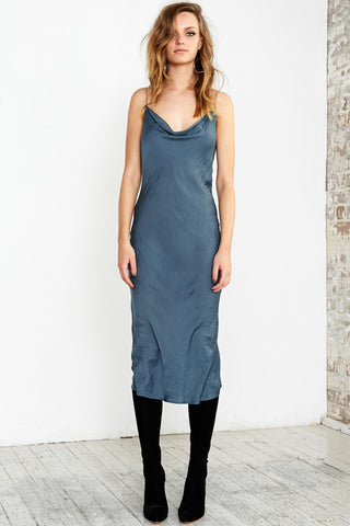 CHAIN GANG CAMI DRESS - TEAL - Shakuhachi