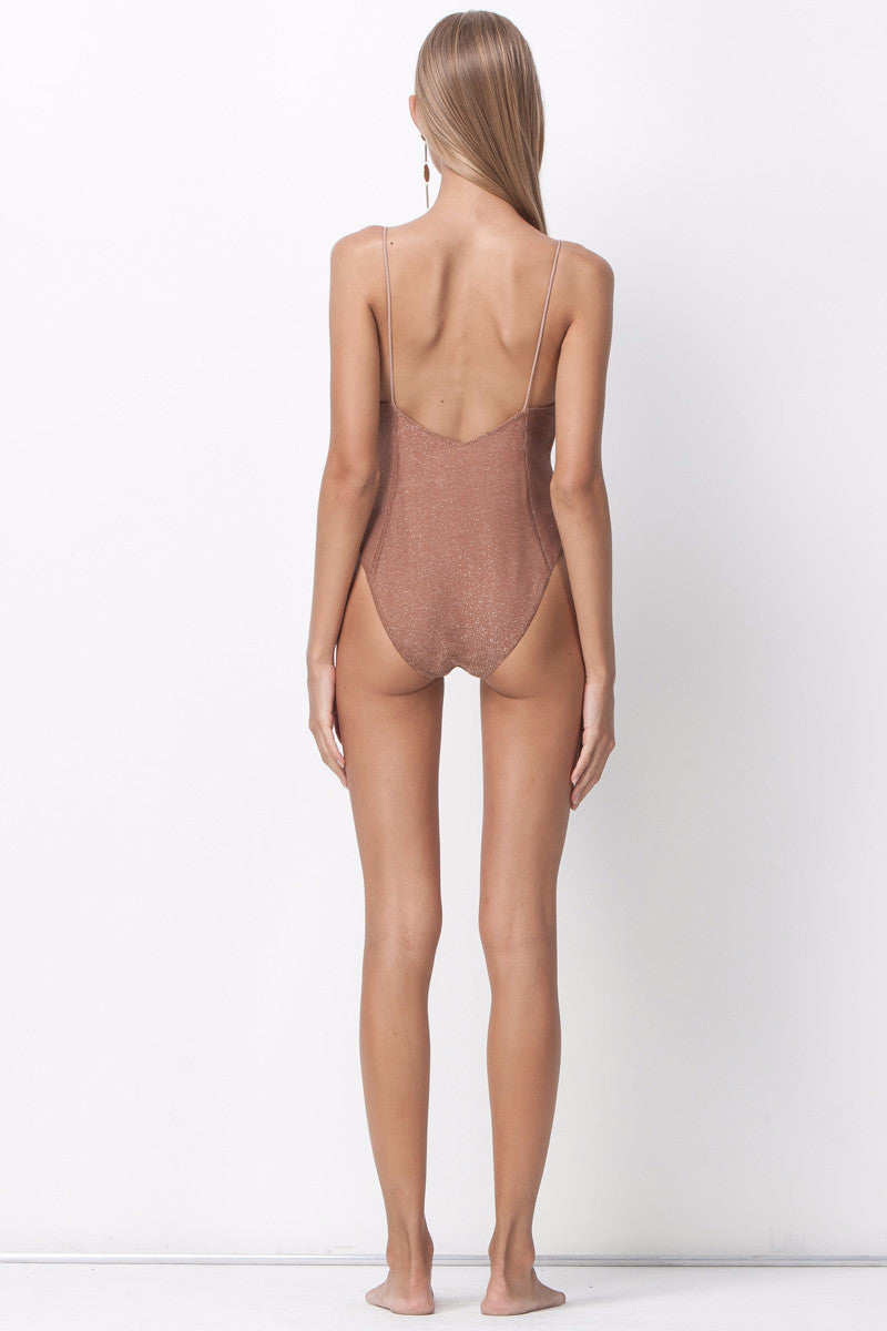 shakuhachi - ALL THAT SHINES DEEP V BODYSUIT - BLUSH - 3