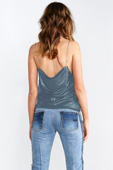 CHAIN GANG CAMI TOP - TEAL