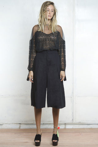 CRUISE CULLOTE PANTS BLACK - Shakuhachi