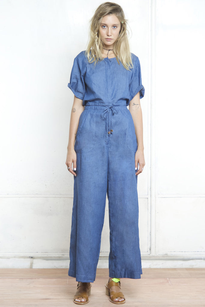 GENIE SAFARI JUMPSUIT DENIM - Shakuhachi - 1
