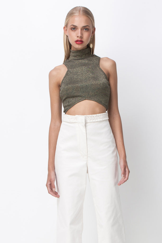 GIGI CROP TOP - GOLD DUST