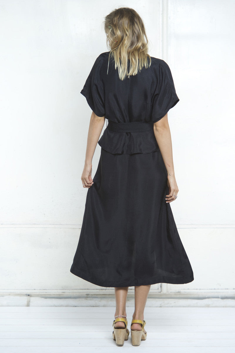 shakuhachi - ISABELLE WRAP DRESS - BLACK - 4