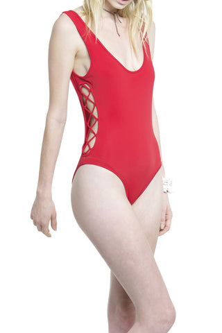 LACING ONE PIECE - RED - Shakuhachi - 2