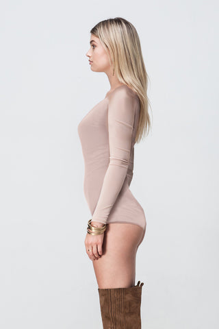 NUDE LONG SLEEVE BODYSUIT