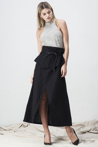 OBHI WRAP SKIRT BLACK