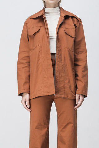 shakuhachi - OVERSIZED LONG SLEEVE SHIRT JACKET BURNT ORANGE - 6