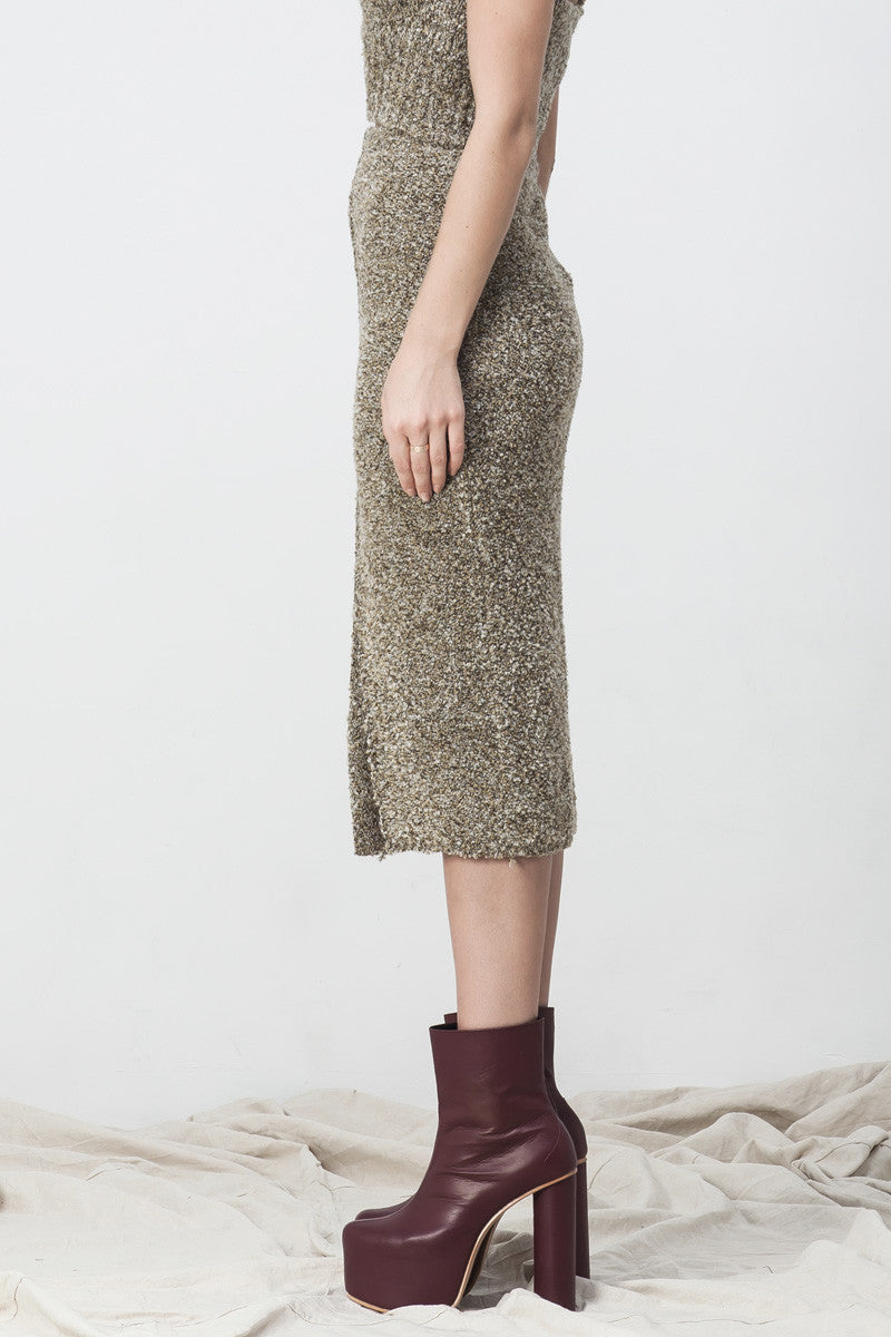 shakuhachi - POPCORN SPLIT TUBE SKIRT - 4