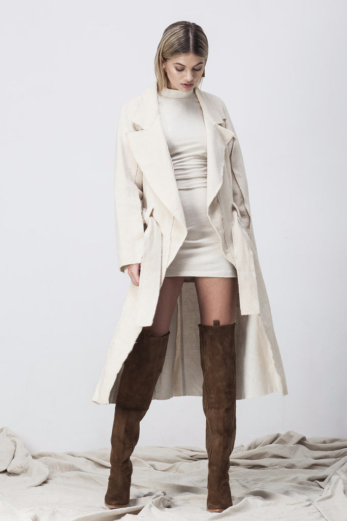 shakuhachi - RAW EDGE TRENCH NATURAL - 1