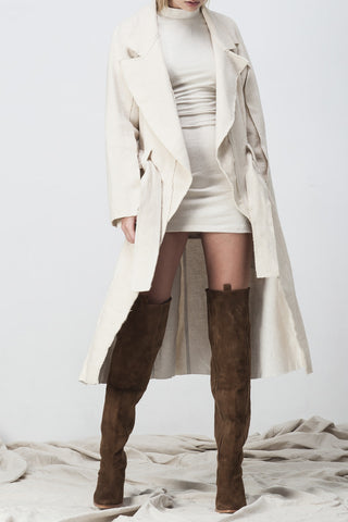 shakuhachi - RAW EDGE TRENCH NATURAL - 3