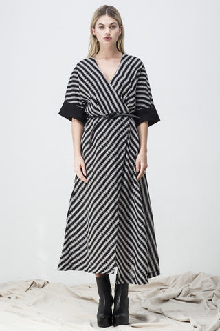 shakuhachi - ISABELLA LINEN WRAP DRESS - 1