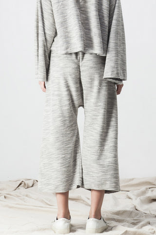 TERRY DROP CROTCH PANT GREY