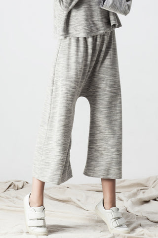 TERRY DROP CROTCH PANT GREY - Shakuhachi - 4