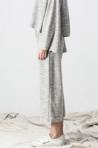 TERRY DROP CROTCH PANT GREY - Shakuhachi - 3