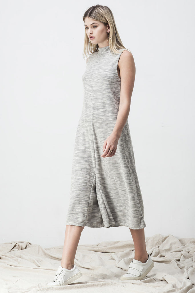TERRY TURTLENECK JUMPSUIT GREY - Shakuhachi - 1