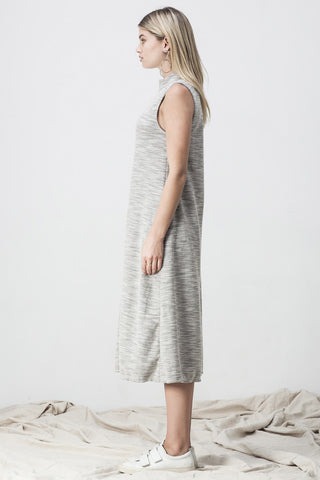 TERRY TURTLENECK JUMPSUIT GREY - Shakuhachi - 5