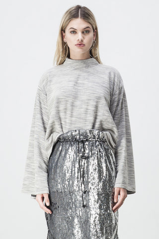 TERRY WIDE SLEEVE SWEATER GREY