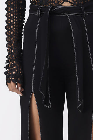 LOVE CHILD FLARE SPLIT PANT - BLACK
