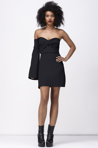 RAIN ON MY PARADE MINI DRESS - BLACK