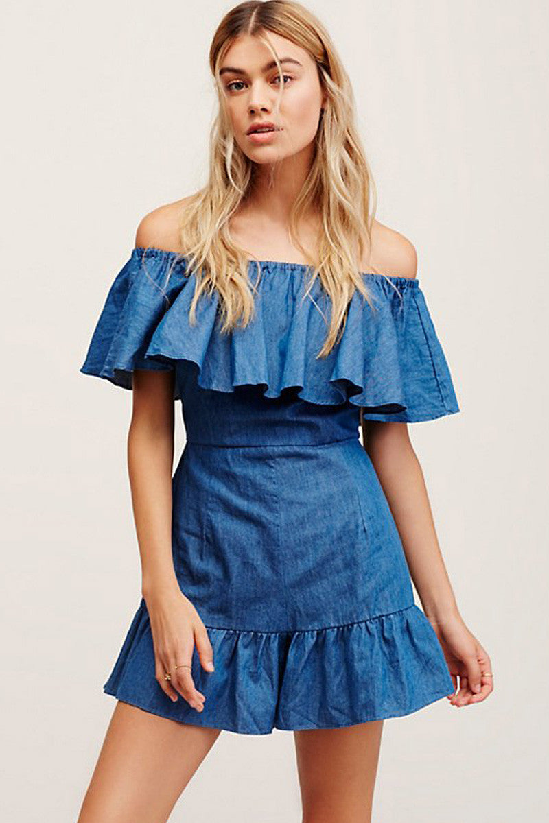 shakuhachi - GENIE OFF THE SHOULDER FRILL PLAYSUIT - 3